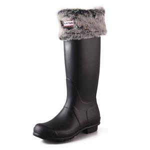 Hunter Faux Fur / Fleece Welly Boot Socks 🖤